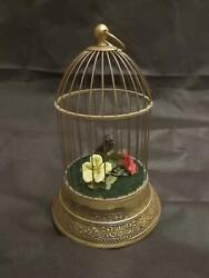 Antique Vintage German Kg Singing Bird Cage Automation And All Working