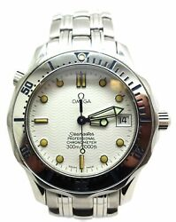 Omega Seamaster Professional Chronometer Stainless Automatic Watch 36mm W/o Stem