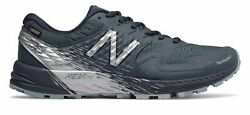 New Balance Womenand039s Summit Q.o.m. Gtx Trail Shoes Blue With Blue