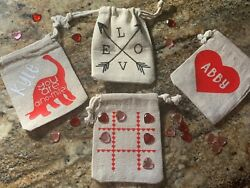 Valentine Tic Tac Toe Personalized Bags $2.00