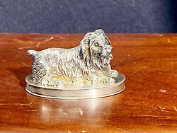 Sterling Silver Terrier Pill Box