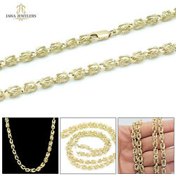 10k Real Yellow Gold Mens Womens Turkish Link Chain Necklace