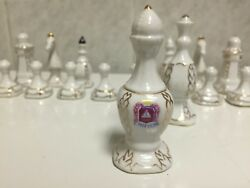 Vintage Porcelain Chess Set Cmielow Made In Poland