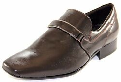 Sarreti Men's Shine Leather Chocolate Made In Brazil Dress Shoes Style012-504
