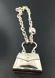 Sterling silver purse keychain by designer Saturno imported from Italy $195.00