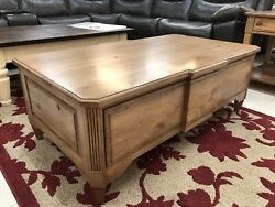 Kincaid Vintage Pine New Collection Rustic Farmhouse Coffee Cocktail Table
