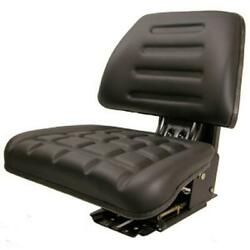 Black Tractor Seat W/trapezoid Backrest Fits Ford/fits New Holland 8n 9n Naa Jub
