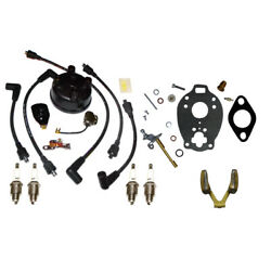 Ignition Tune Up And Carb Kit Fits Ford 9n 2n 8n Tractor Front Mount Distributor