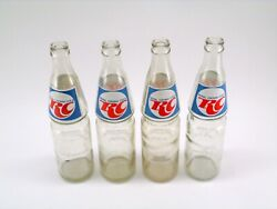 Rc Cola Royal Crown Cola 16 Oz Empty Bottles Pop Soda Clear Glass Lot Of 4