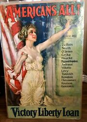 Original Wwi Americans All Victory Liberty Loan Christy Vintage 1919 Poster