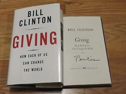 President Bill Clinton Signed Giving How Each Of Us Can Change The World Book