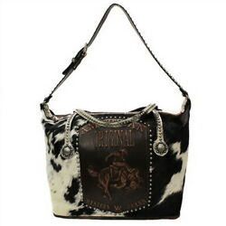 Raviani Overnight Bag In Brown And White Brindle Leather W/american Original