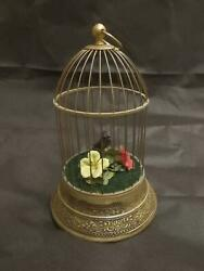 Vintage Singing Bird Cage Automation And Good Condition