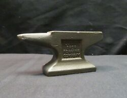 Vintage Cast Iron Anvil Paperweight Advertising Alliance Drop Forging Co