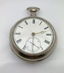 Antique Verge Fusee Pocket Watch Two Case