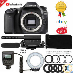 Canon 80d Dslr Camera Best Entry For Youtube Vlogs Photography Film Music Videos