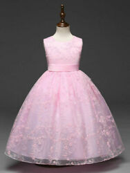 Flower Girl Dress Princess Formal Pageant Wedding Bridesmaid MG For 7-8 years
