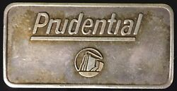 Prudential Insurance Piece Of The Rock 1 Troy Oz 999 Silver Art Bar Pioneer Mint