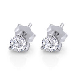 Round Cut Stud Earrings Available In 14k, 18k And Platinum