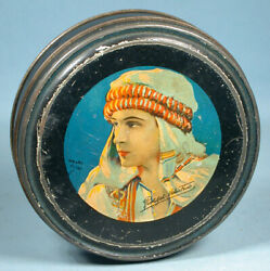 1920s Rudolph Valentino Tin Candy Container Henry Clive Canco Beautebox Movie