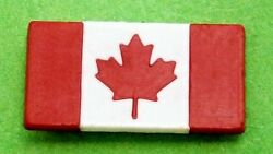 F763a Red And White Small Canadian Canada Maple Leaf Flag Tie Lapel Pin Badge
