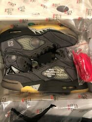Off White X Jordan 5 Size 6.5 Sold Out Deadstock In Hand Confirmed