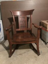 Antique Sikes Rocking Chair Made In Buffalo Ny