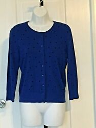 Cable & Gauge Sweater - Blue - Size S $9.00