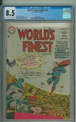 Worldand039s Finest Comics 78 Cgc 8.5 Ow/wh Pages // Golden Age Superman Story