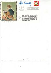 Ted Kennedy Hand Signed Colorano Silk First Day Cover 18/10/78 Holly Mi Fdi P/m
