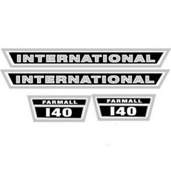 Hood Decals Only I140 For Farmall International Tractor 140