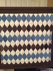 Wall Hanging 'Tapestry' 'Woven' Brown White Blue