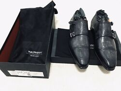 Isaac Grey Magnanni Exclusive Mens Genuine Lizard Dress Shoes Size 9m