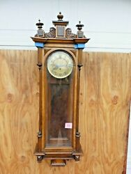 Large Ornate 3 Weight Vienna Wall Clock Fancy C.1900 No.11