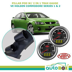 Ve Commodore Ser 1 And 2 Pillar Pod W/ 2in1 Boost Ext Temp And Dual Volts Gauge