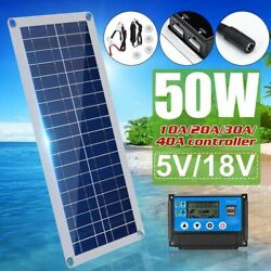 Solar Panel Dual Usb Car Charger Controller Outdoor Camping Led Lights Accessory