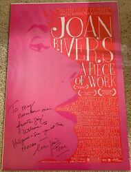 Joan Rivers Signed A Piece Of Work Movie Poster - Fashion Police, Comedy, 1 Gay