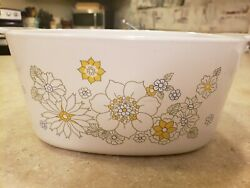 Corning Ware Very Rare Collectable Vintage Flower Bouquet Casserole Dish 3 Qt