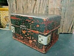 Old Vintage Color Rich Patina Hand Made Wooden Drill Bits Tools Box Old