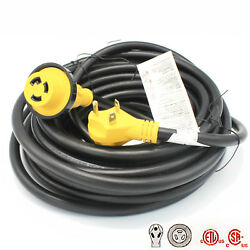 50ft 30a Rv Boat Trailer Motorhome Camper Power Extension Cord 30amp Cable