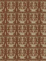 Clarence House Ethnic Chic Totem South Seas Linen Fabric 10 Yards Cedar