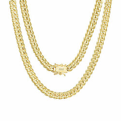 10k Yellow Gold Solid Mens 6mm Miami Cuban Link Chain Necklace Box Clasp 20-30