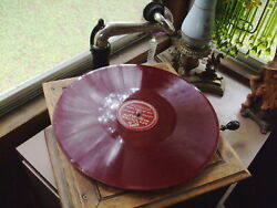 Vintage Victor Record Player Wind Up, Works W/rca Victor 78 Rpm Red Sousa Record