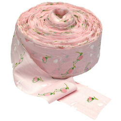 Vintage Craft Ribbon 3 Wide 70s/80s Pink Floral Flowers Cotton 154 Yards Yd