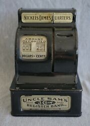Uncle Sam's 3 Coin Register Bank - Durable Toy And Novelty Corp. - Works