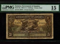 Jamaicap-32a5 Shillings1918 King George V Pmg Ch. F 15
