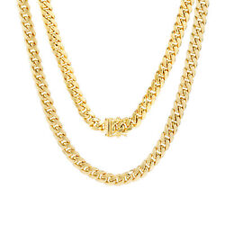 10k Yellow Gold Mens 6mm Miami Cuban Link Chain Pendant Necklace Box Clasp 26