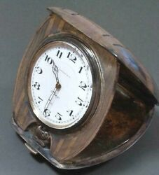 And Co.clock Antique Table Clock Travel Watch 1922 Silver No Box Delicate