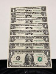 2017 1 Frnk-dallas8 Sequential Fancy Rare Serial Notes Unc!