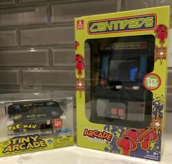 Tiny Arcade Super Impulse Table Top Pac-man Limited Edition And Centipede Arcade